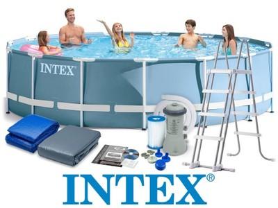 สระน้ำสำเร็จรูป Intex สระปริซึ่มเฟรม 15 ฟุต (457x122 ซม.)