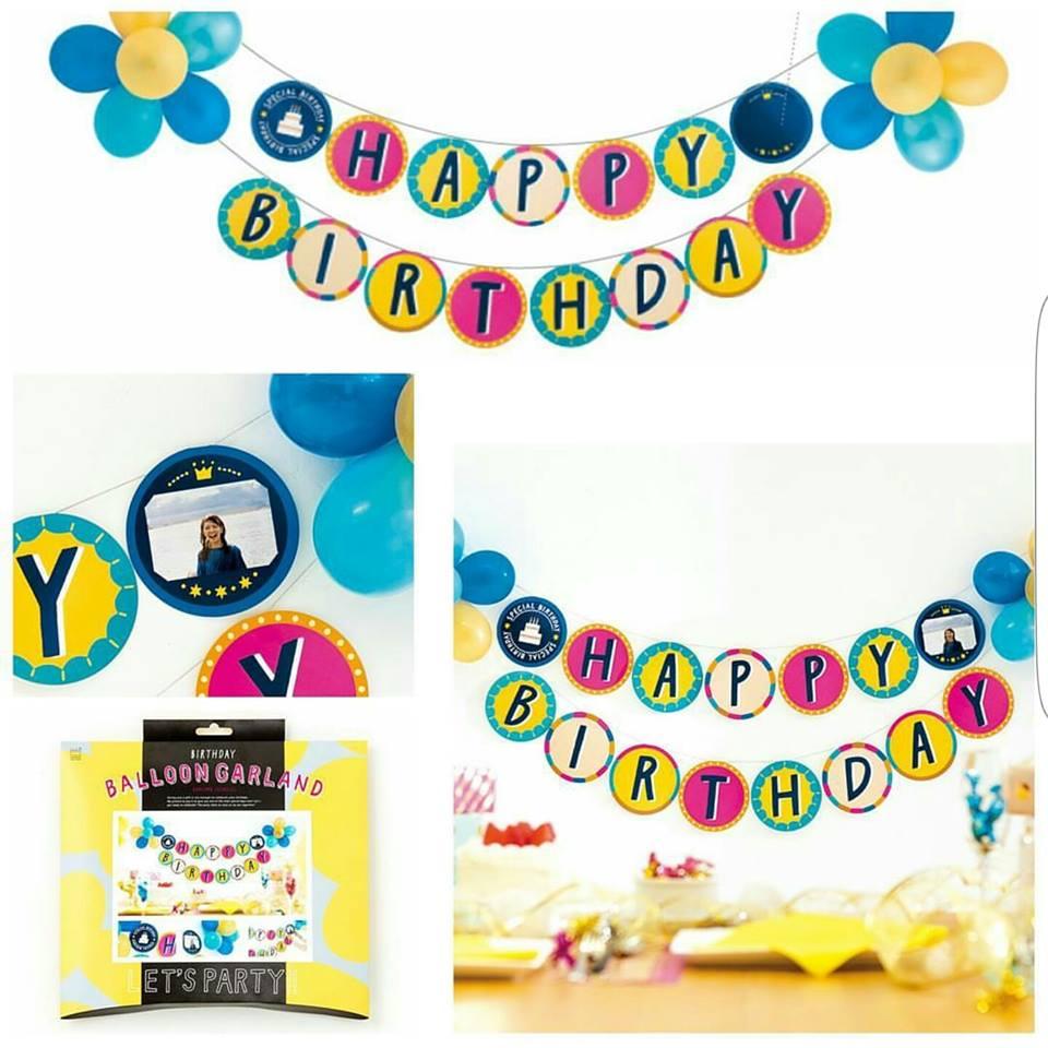 ป้ายตกแต่ง Happy Birthday แบบ B