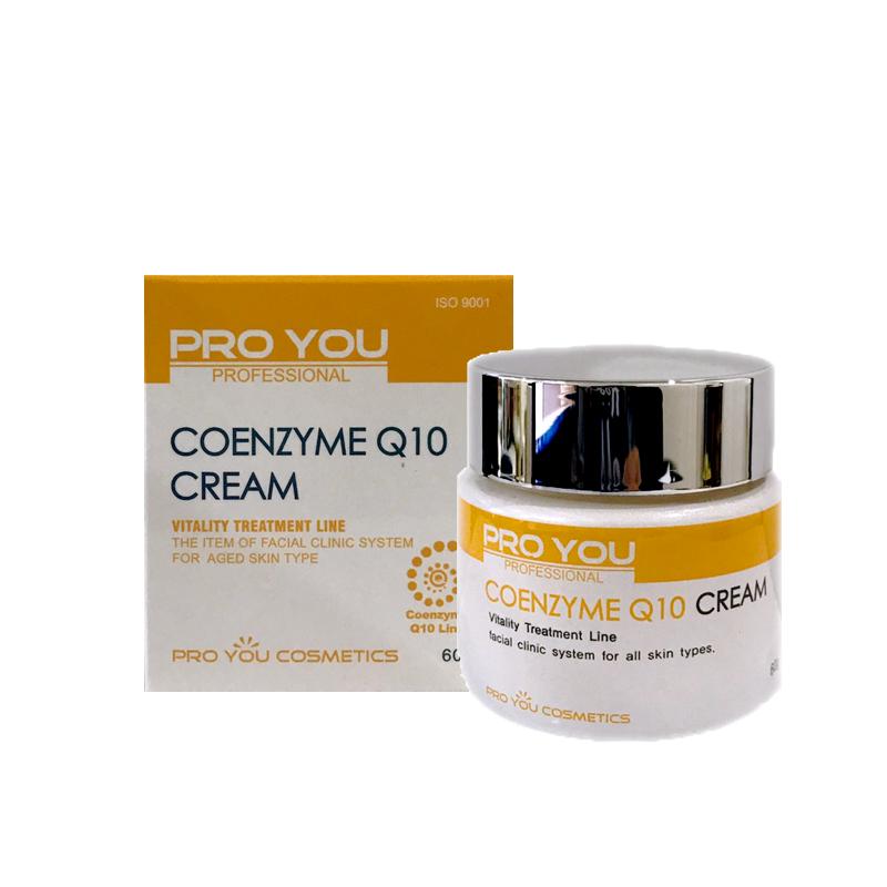 Proyou Coenzyme Q10 Cream 60g (ครีมบำรุงผิวหน้าที่มีประสิทธิภาพในการป้องกันการเกิดริ้วรอยก่อนวัย ทำให้ริ้วรอยที่เป็นดูจางลง ช่วยชะลอความเสื่อมสภาพของเซลล์ผิว ถนอมผิวพรรณให้ดูสดใส เปล่งปลั่ง)