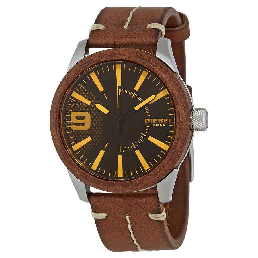 นาฬิกาผู้ชาย Diesel รุ่น DZ1800, Rasp Brown Dial Leather