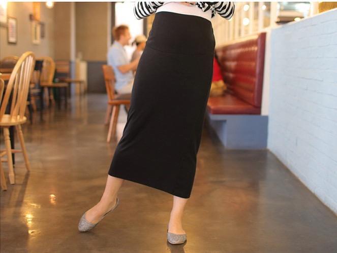 กระโปรงคนท้อง ผ้ายืด มีผ้าพยุงครรภ์ สายปรับขนาด ผ้านิ่มมาก M,L,XL สำเนา
