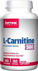 Jarrow Formulas, L-Carnitine 500 500 mg 180 Capsules