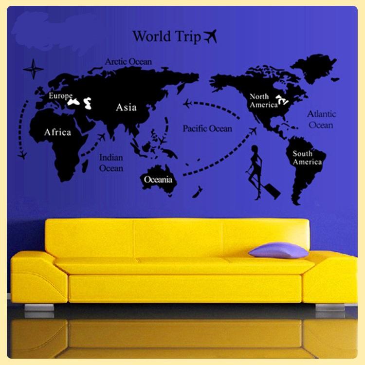 สติกเกอร์ แผนที่โลก(world trip)