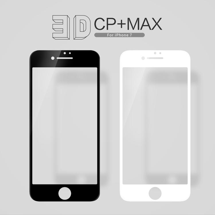 ฟิล์มกระจกนิรภัยแบบเต็มจอ Nillkin 3D CP+ MAX สำหรับ iPhone 7
