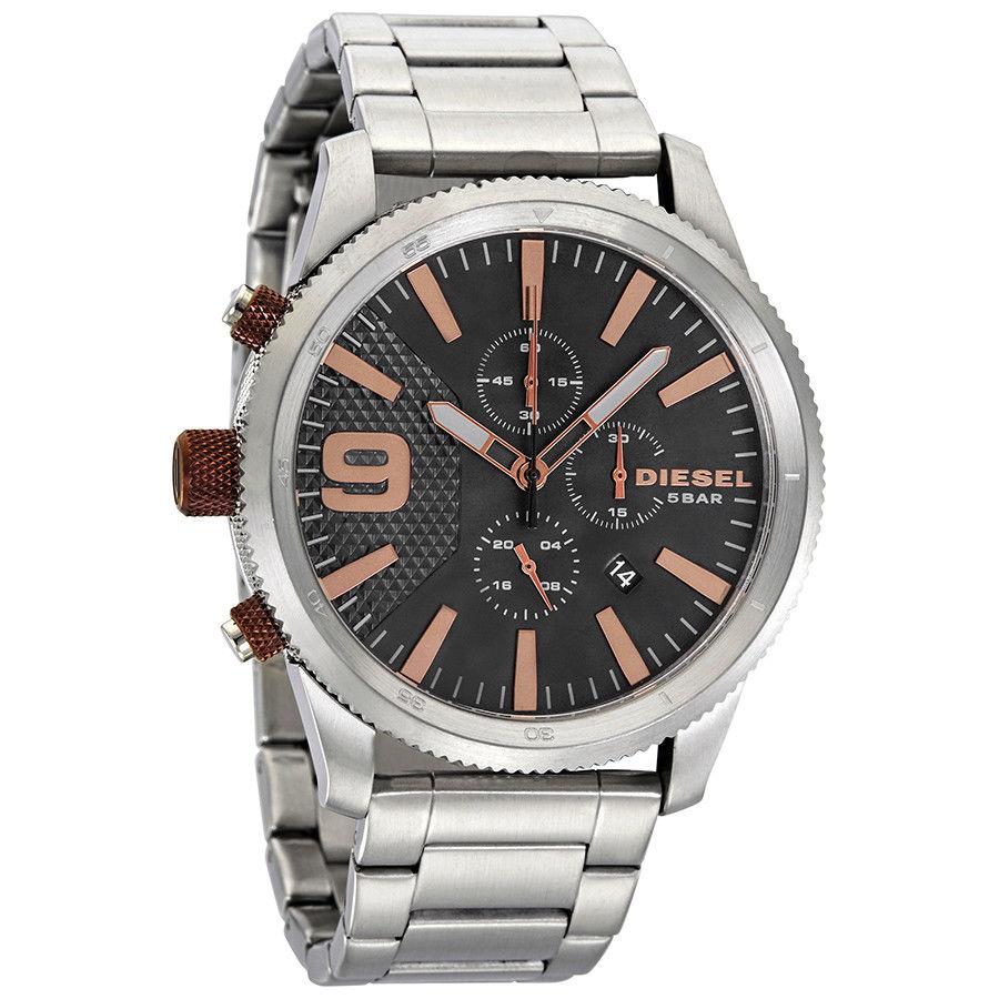 นาฬิกาผู้ชาย Diesel รุ่น DZ4457, Rasp Chronograph Black Dial Men's Watch