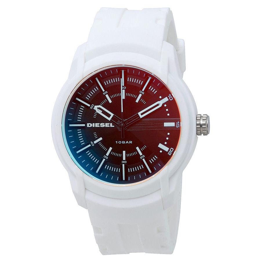 นาฬิกาผู้ชาย Diesel รุ่น DZ1818, Armbar Black Dial White Silicone