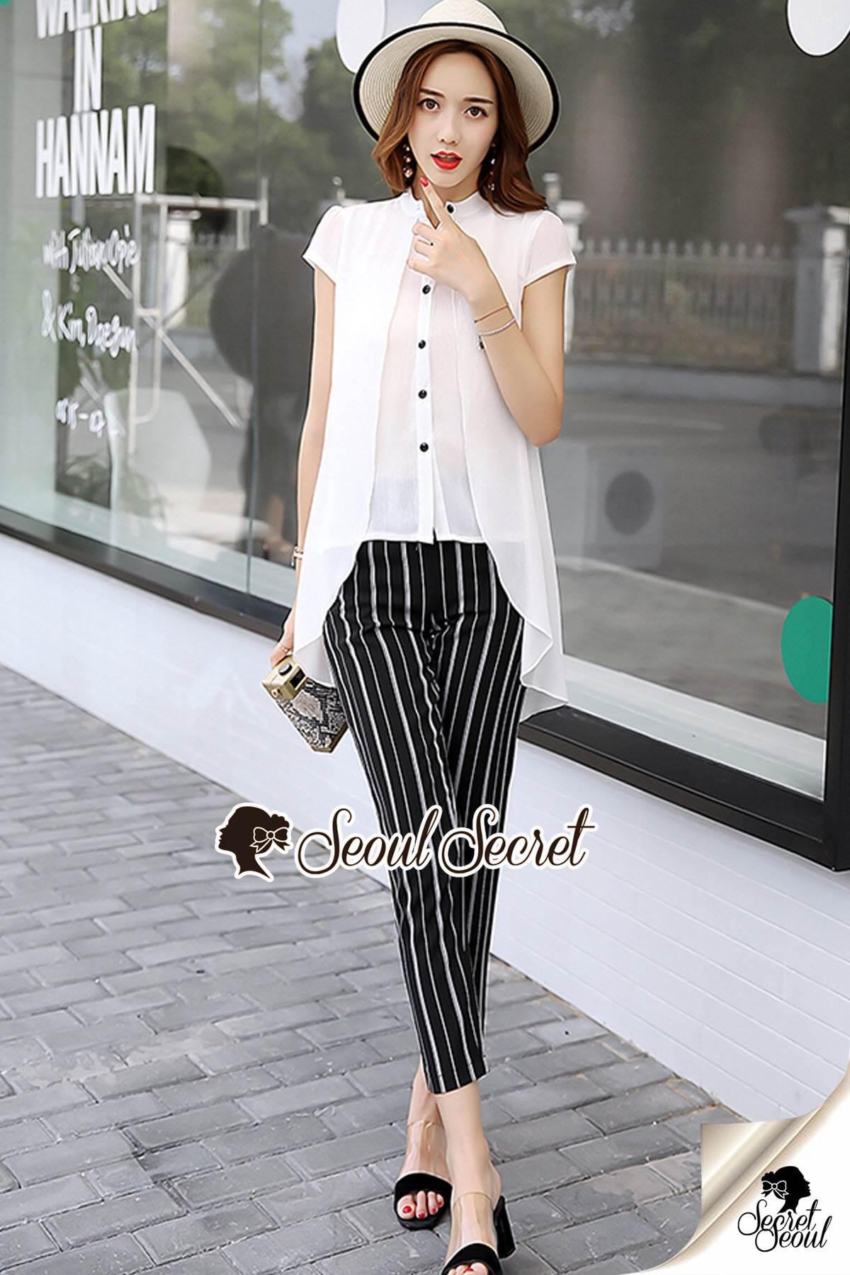 Seoul Secret Say's... Stylish Stripe Pants Cami Spritty Set