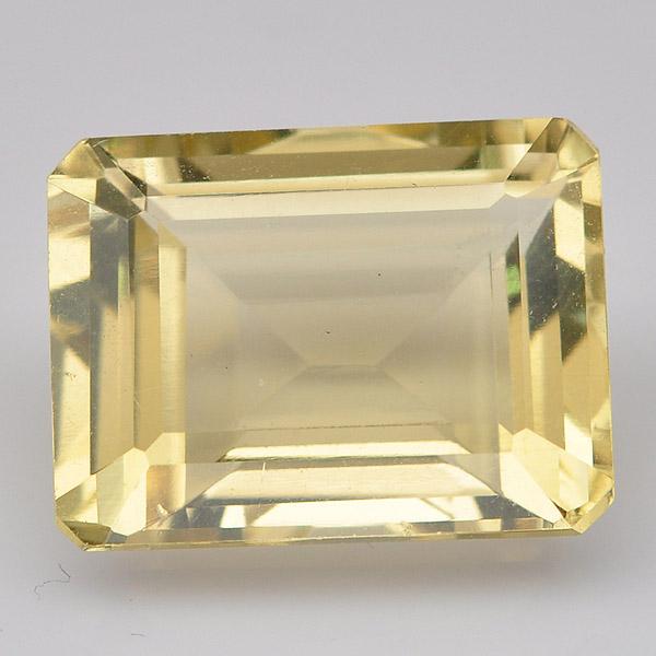 พลอยเลมอนควอตซ์ (Lemon Quartz) พลอยธรรมชาติแท้ น้ำหนัก 11.25 กะรัต