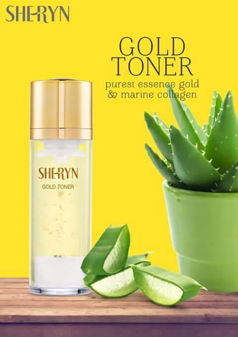 โทนเนอร์ทองคำ Sheryn Gold Toner 30 ml.