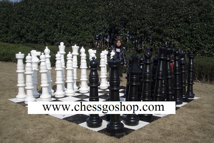 "48"" Garden Chess Set with Plastic Board"