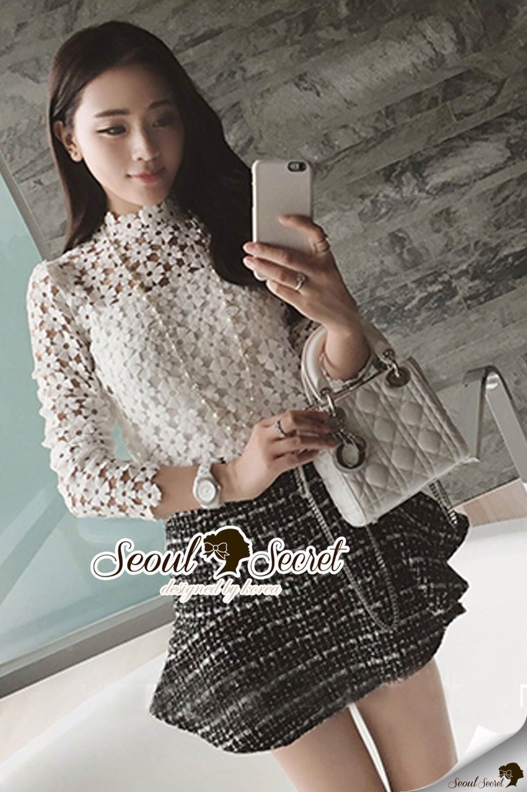 Seoul Secret Say's... Ivory Daisy Lace Blouse