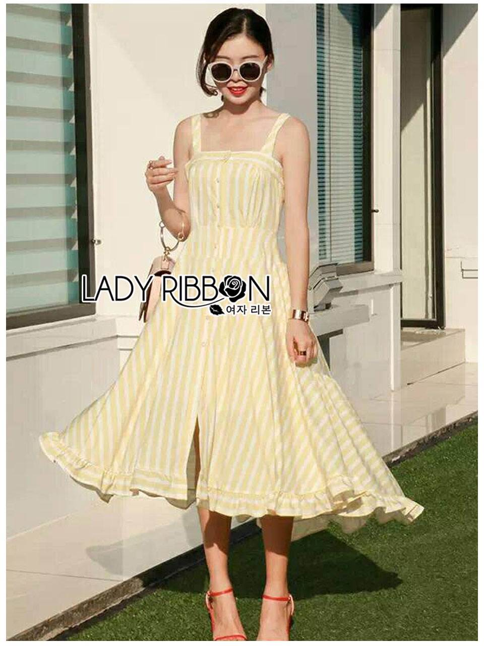 🎀 Lady Ribbon's Made 🎀Lady Anna Summer Breeze Colorful Striped Dress