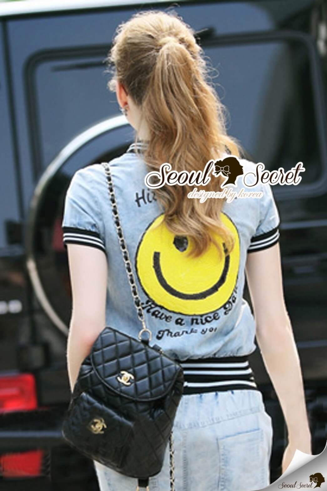 Seoul Secret Say's... Smiley Sequinny Chic Denim Set