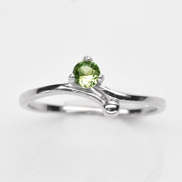 แหวนพลอยแท้ แหวนเงิน925 พลอย มรกต ประดับเพชร CZ ชุบทองคำขาว