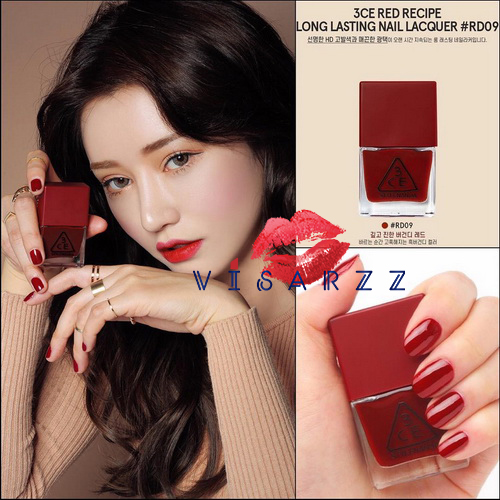 3CE Red Recipe Long Lasting Nail Lacquer # RD09 ยาทาเล็บรุ่น Limited Edition