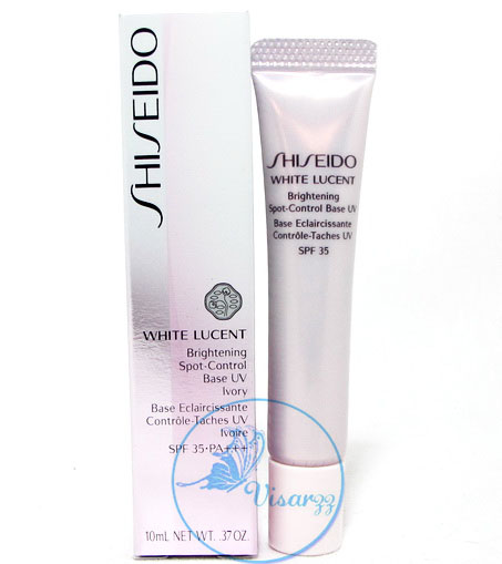 (Tester) Shiseido White Lucent Brightening Spot-Control Base UV SPF35 PA++ # Ivory 10 mL เมคอัพเบสช่วยปรับสีผิวให้สม่ำเสมอ พร้อมสารป้องกัน UV ปกป้องรอ
