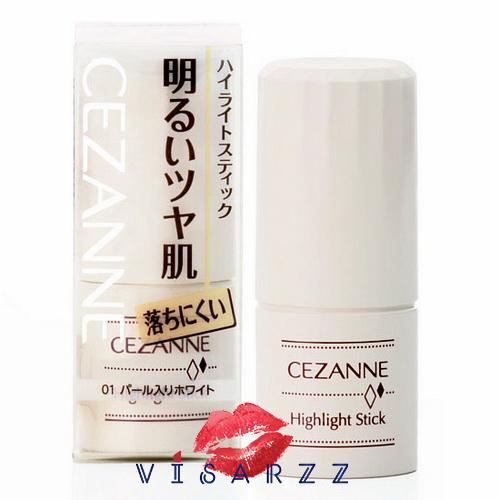 Cezanne Hightlight Stick 5g ไฮไลท์เนื้อครีมอนุภาคมุกชั้นเลิศ ผสมในเนื้อผลิตภัณฑ์เนียนละเอียด เพิ่มความเปล่งประกายให้ใบหน้าสวยสมบูรณ์แบบ