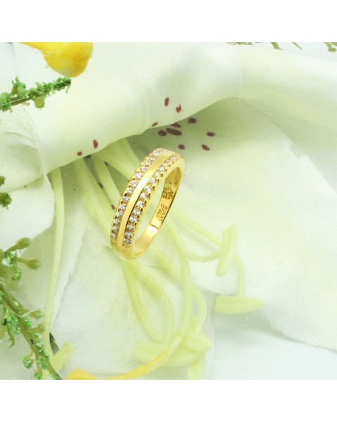 แหวนคู่เงินแท้ ชุบทองคำแท้