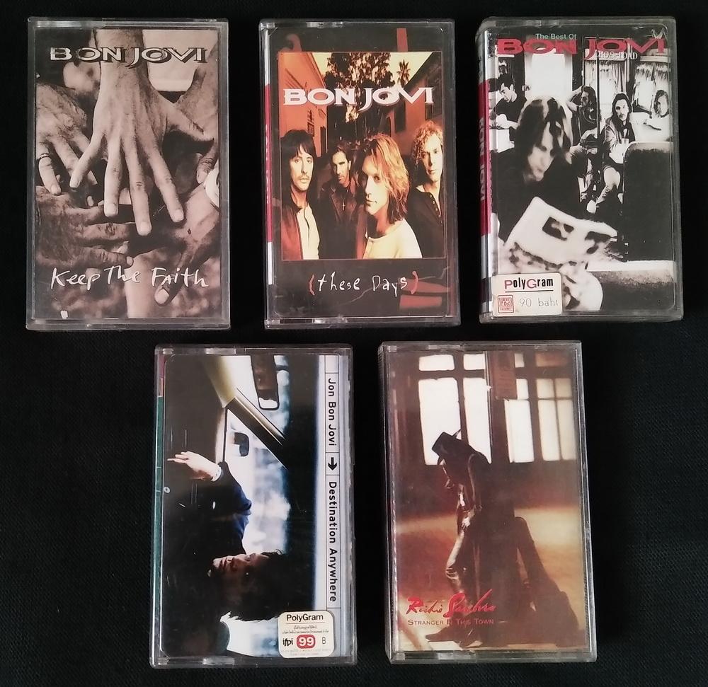 เทปเพลงวง Bon Jovi และงานเดี่ยว 5 อัลบั้ม
