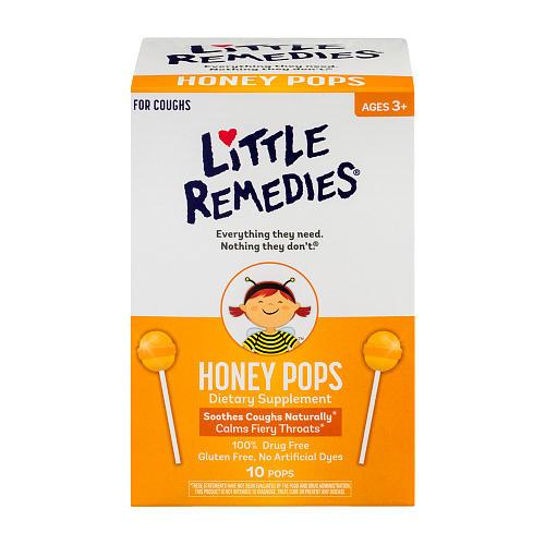 อมยิ้มลดอาการไอและระคายคอสำหรับเด็ก Little Remedies Honey Pops