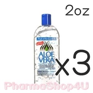 (ซื้อ3 ราคาพิเศษ) Fruit of the Earth Aloe Vera 100% Gel 56g (2oz) เจลว่านหางจระเข้บริสุทธิ์ เย็นสดชื่น ช่วยให้ผิวผ่อนคลาย เก็บกักความชุ่มชื้น ฟื้นฟูผิวจากความเสียหาย