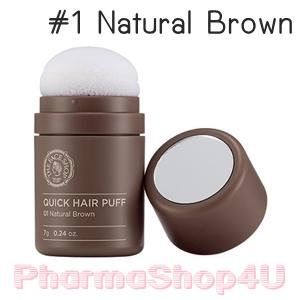 (#1 น้ำตาลธรรมชาติ) Quick Hair Puff The Face Shop 7g อุปกรณ์ช่วยปิดเหม่งหรือบริเวณที่ผมบาง พัฟนุ่ม ไม่ก่อให้เกิดการระคายเคือง