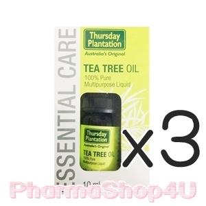 ***หมด*** (ซื้อ3 ราคาพิเศษ) Thursday Plantation Tea Tree Oil 10mL ทีทรีออย บริสุทธ์ 100% แต้มสิวหรือผดให้ยุบเร็ว ลดผื่นแดง ลดการระคายเคืองของผิว