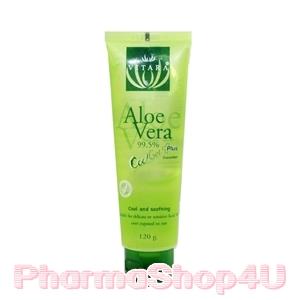 Vitara Aloe Vera Cool Gel Plus 99.5% with Cucumber 120g เจลว่านหางจระเข้เข้มข้น และสารสกัดจากแตงกวา บำรุงผิวดีเยี่ยม ไม่มีน้ำหอม-แอลกอฮอล์
