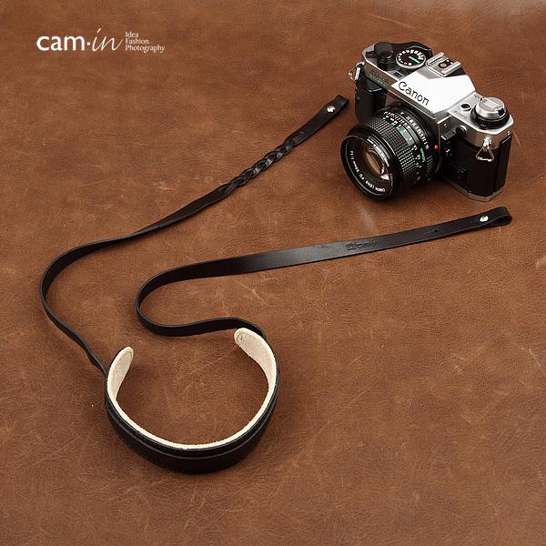 สายคล้องกล้องหนังแท้สวยๆ Cam-in สำหรับ Mirrorless Leica สีดำ