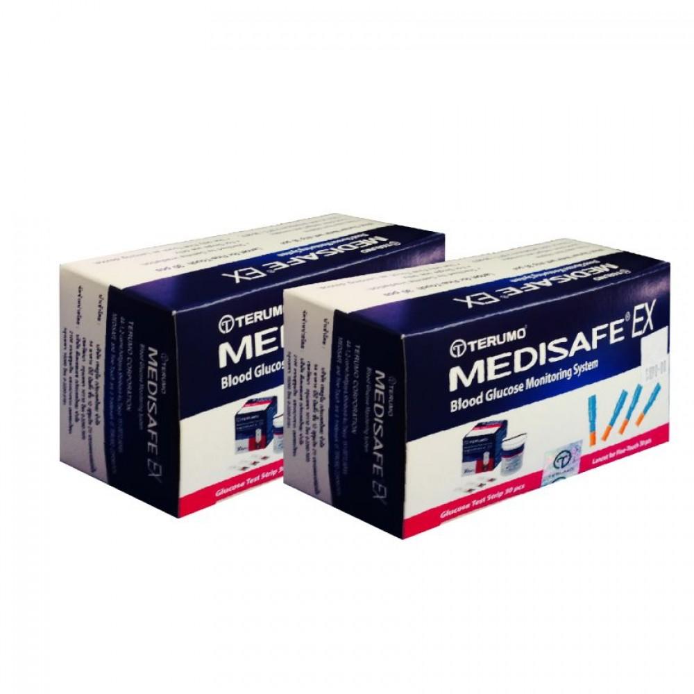 แผ่นวัดน้ำตาล Terumo medisafe ex sterip test 30 แผ่น