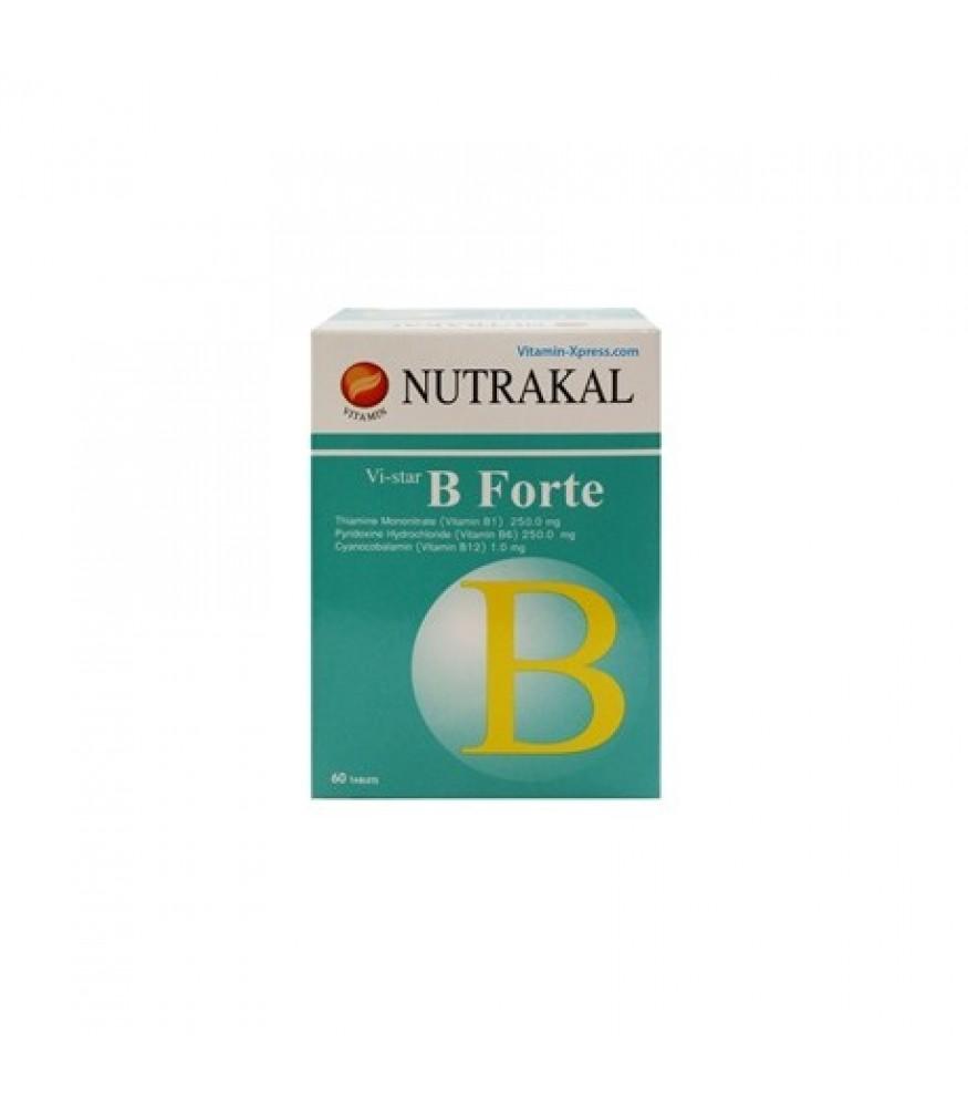 NUTRAKAL B-FORTE (60 TABLETS) X 2 กล่อง
