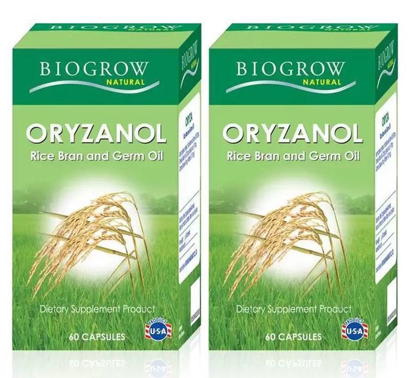 BIOGROW Oryzanol 60 เม็ด 2 ขวด แถมฟรี 30 เม็ด