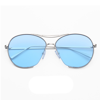 แว่นตา ฮาราจูกุ (Harajuku) สีฟ้า กรอบสีิเงิน (UV400)