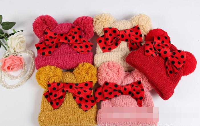 CH115-36 หมวกไหมพรมกันหนาวบุขนนุ่มเพิ่มความอบอุ่น สีสวย สำหรับเด็ก 2-8 ปี พร้อมส่ง