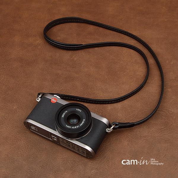 สายคล้องกล้องหนังแท้ cam-in Ultra slim สีดำ