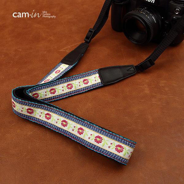 สายคล้องกล้องลายถัก มวลไม้สีขาว cam-in White Flora
