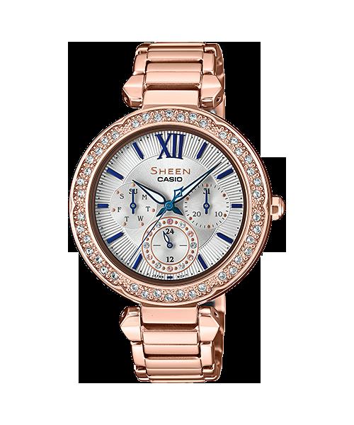นาฬิกา คาสิโอ Casio SHEEN BLUE&PINK GOLD COLOR SERIES รุ่น SHE-3061PG-7B ของแท้ รับประกัน1ปี