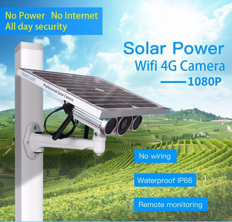 กล้องวงจรปิดพลังงานแสงอาทิตย์ 4G แบบใส่ซิม