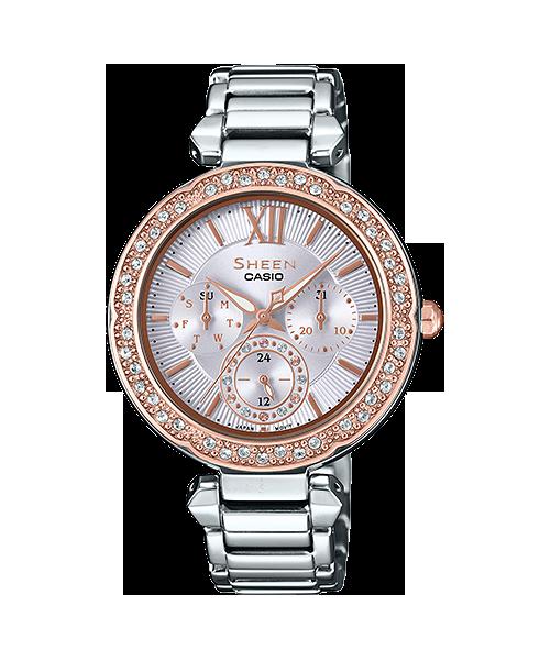 นาฬิกา คาสิโอ Casio SHEEN MULTI-HAND SHE-3061 series รุ่น SHE-3061SG-4A ของแท้ รับประกัน1ปี