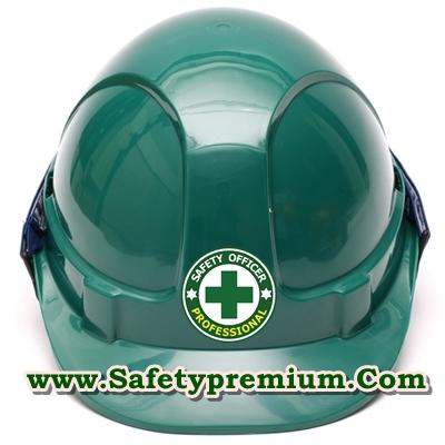 สติ้กเกอร์ติดหมวกแข็ง จป.ระดับวิชาชีพ Safety Officer Professional Level
