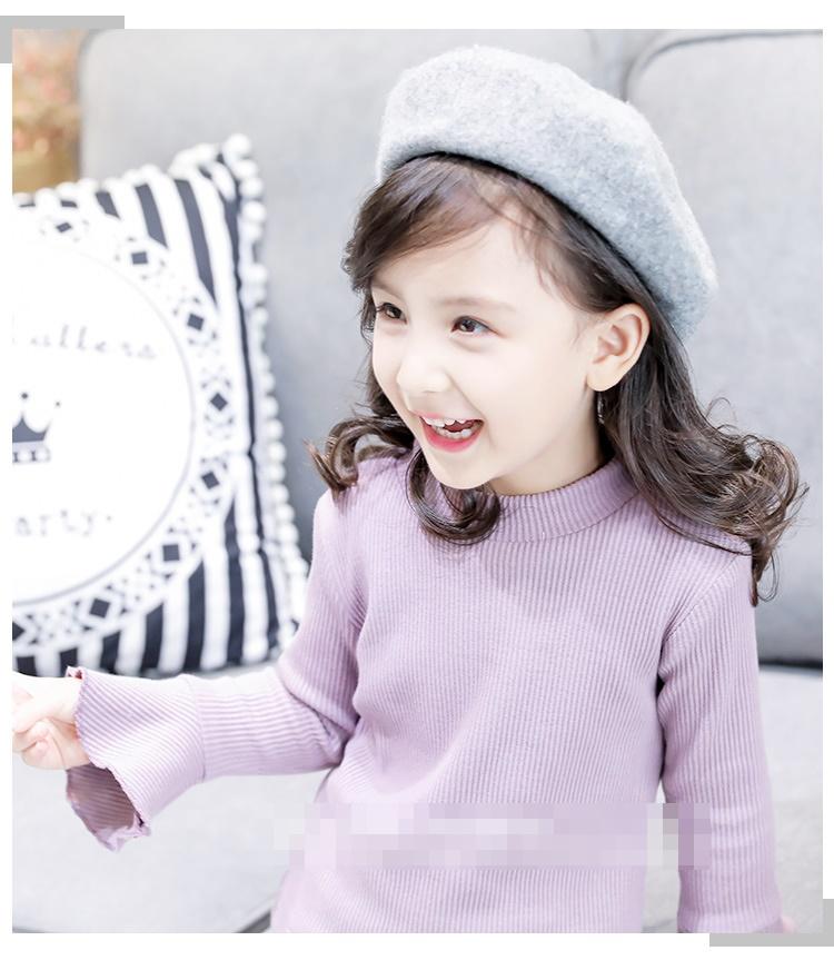 C121-23 เสื้อกันหนาวเด็กสีม่วง บุผ้าขนสำลีนุ่ม สวยอุ่น พร้อมส่ง size 100-140