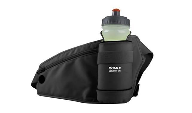 เป้คาดเอวนักวิ่ง Romix สีดำ แถมฟรีขวดน้ำ 1 ชิ้น