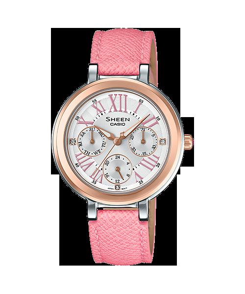 นาฬิกา คาสิโอ Casio SHEEN PINK COLOR SERIES รุ่น SHE-3034BGL-7A ของแท้ รับประกัน1ปี
