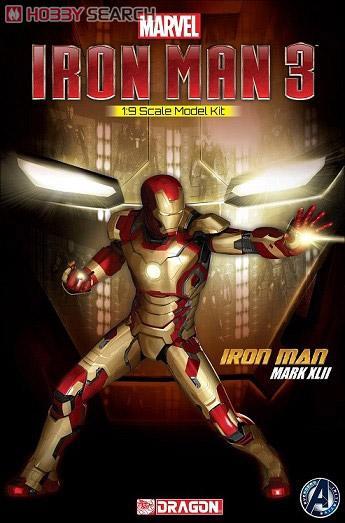 Dragon Iron man 3 Mark XLII (MK42) 1/9 Action Hero Vignette NEW