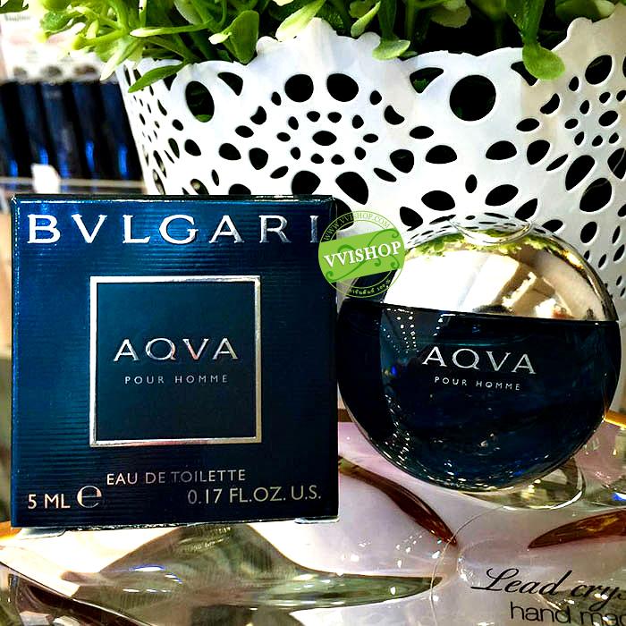BVLGARI AQVA Pour Homme EDT 5 ml. BVLGARI AQVA Pour Homme EDT 5 ml. กลิ่นหอมสะอาด ให้ความรู้สึกถึงท้องทะเลและสาหร่ายสีเขียว