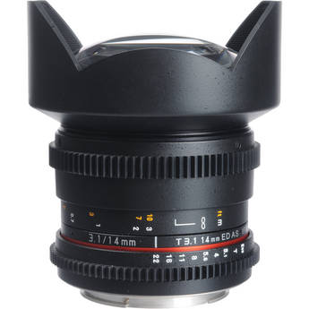 Bower 14mm T3.1 Super Wide-Angle Cine Lens For Canon EF Mount Cameras