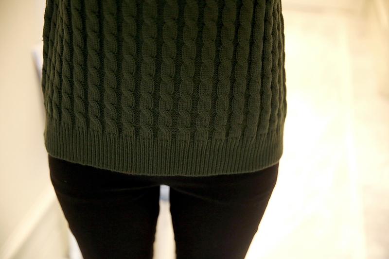 เสื้อไหมพรมแฟชั่นกันหนาว เสื้อสเวตเตอร์ สีเทา แขนสั้น ดีเทลลายถักลูกโซ่ทั้งตัว น่ารักๆ