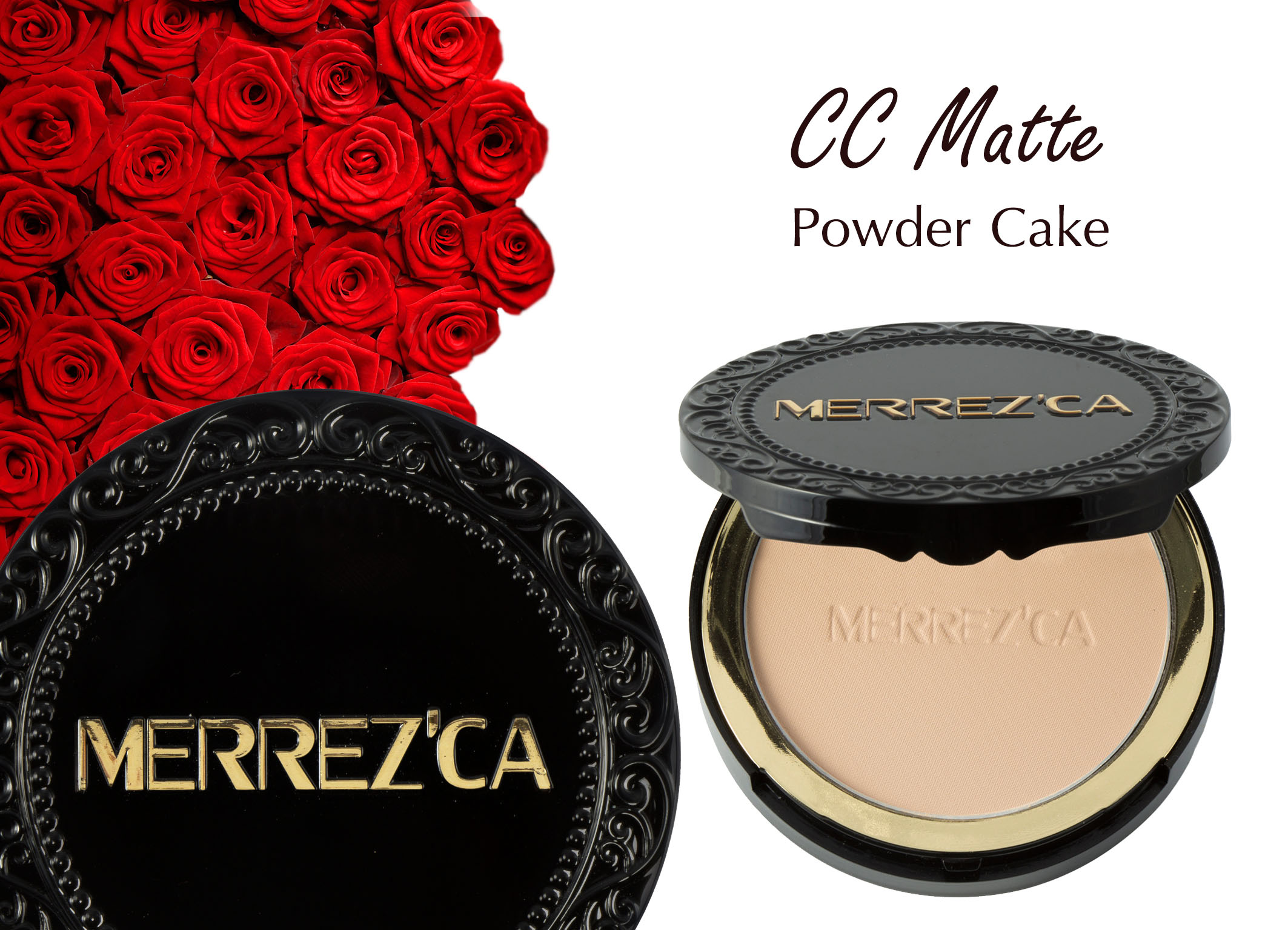 Merrezca CC Matte Powder Cake SPF45/PA++ 13g. No.21 Light Nude ผิวขาว