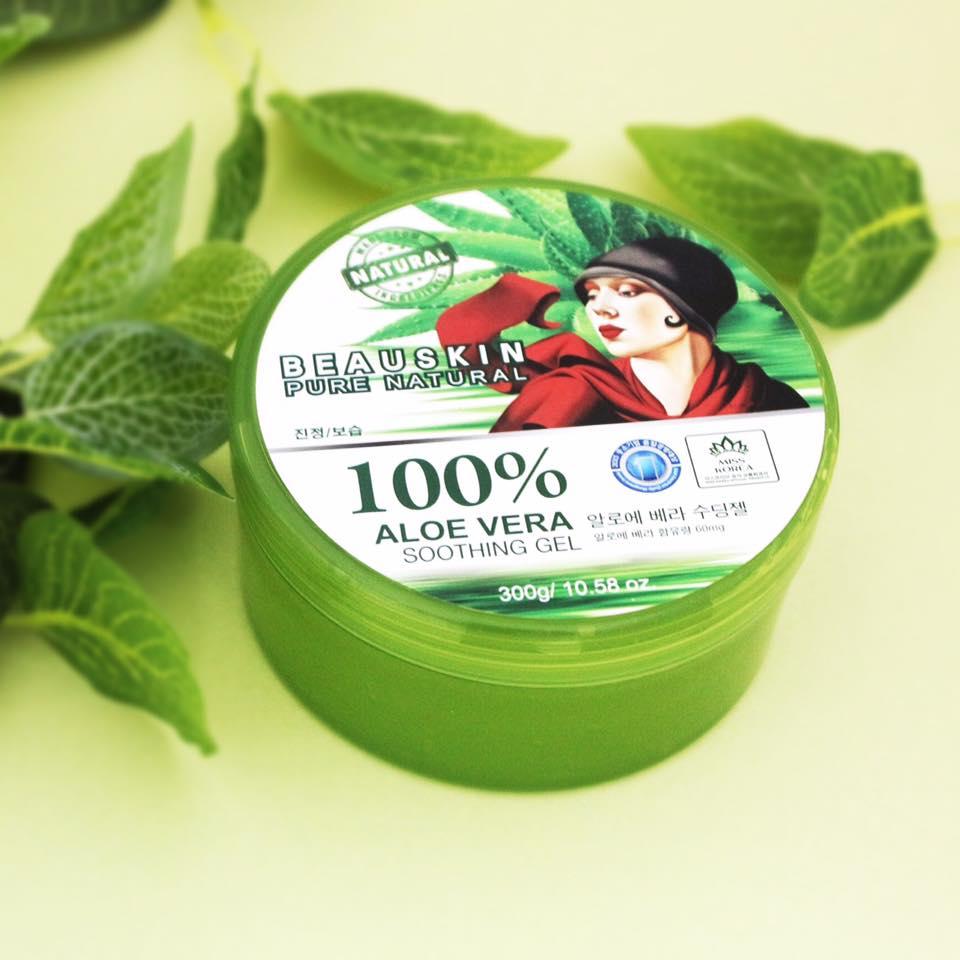 Beauskin Pure Naturat Soothing & Moisture Aloe Vera 100% Soothing Gel 300ml.