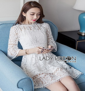 Sunday Feminine Lady Ribbon White